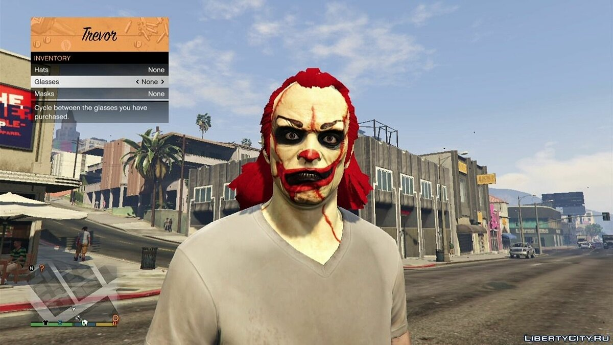 Clown Horror Face v1.0 для GTA 5 - Картинка #1
