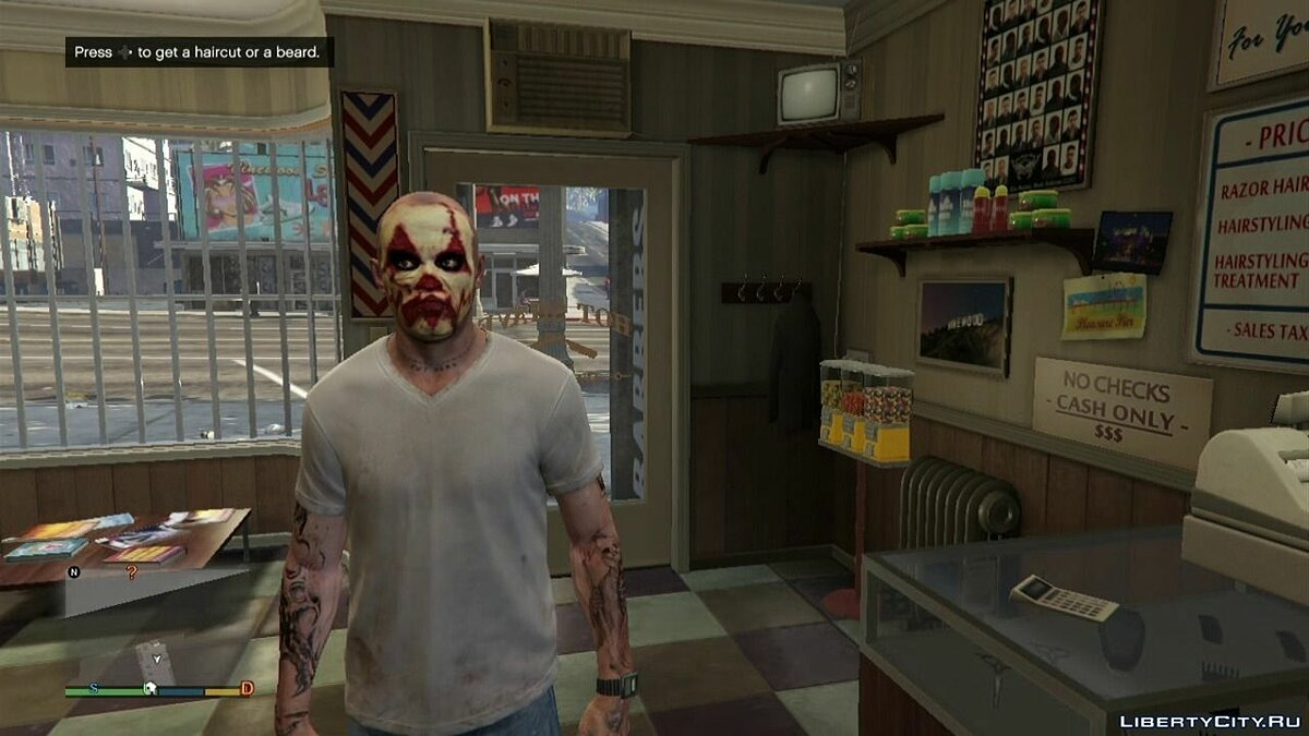 Clown Horror Face v1.0 для GTA 5 - Картинка #2