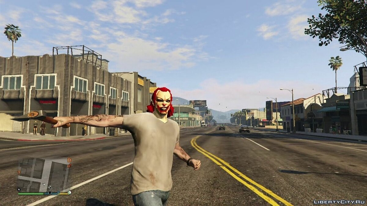 Clown Horror Face v1.0 для GTA 5 - Картинка #4