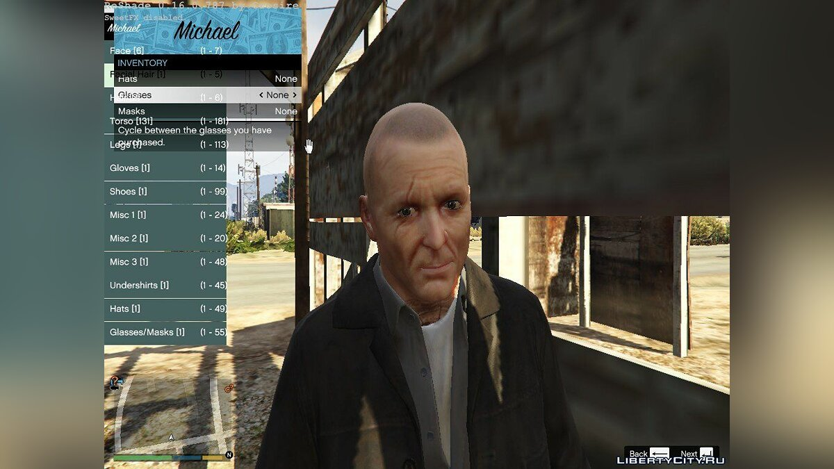��рическа и борода Oldschool Michael Townley для GTA 5