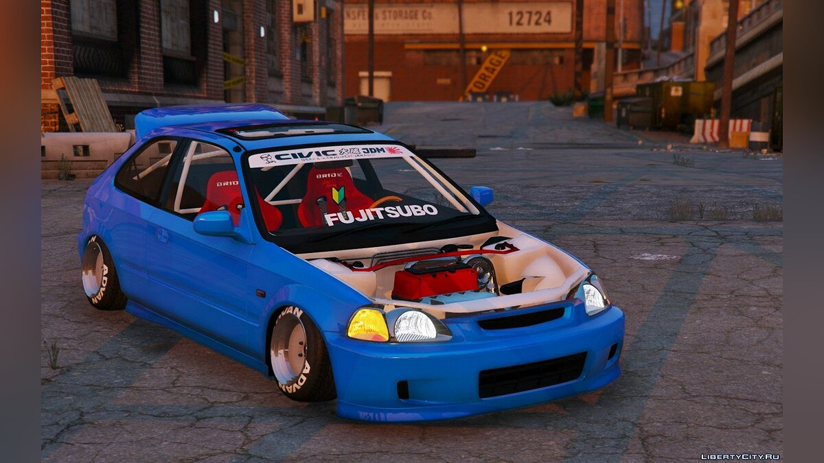 Honda Civic EK9 Stance Edition [Tuning | Template] 1.1 для GTA 5 - скриншот #5