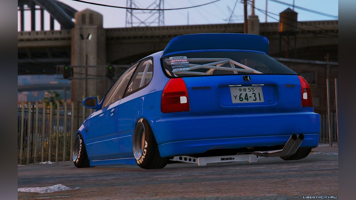 Honda Civic EK9 Stance Edition [Tuning | Template] 1.1 для GTA 5 - скриншот #11