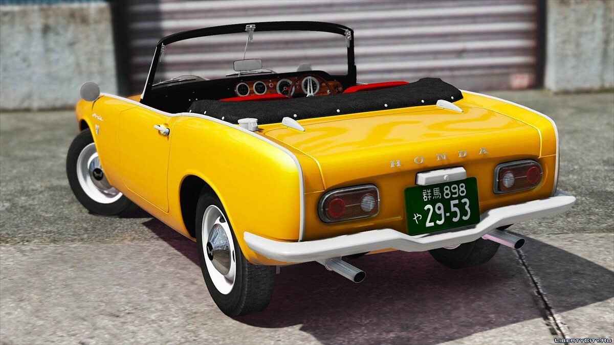 ��ашина Honda 1970 Honda S800 Cabriolet [Add-On / Replace] для GTA 5
