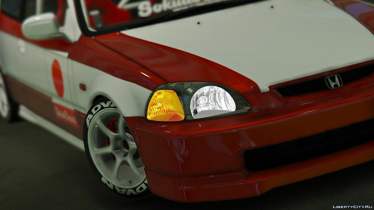 Honda Civic EK9 Kanjo Edition [Tuning | Template] 1.1 для GTA 5 - скриншот #10