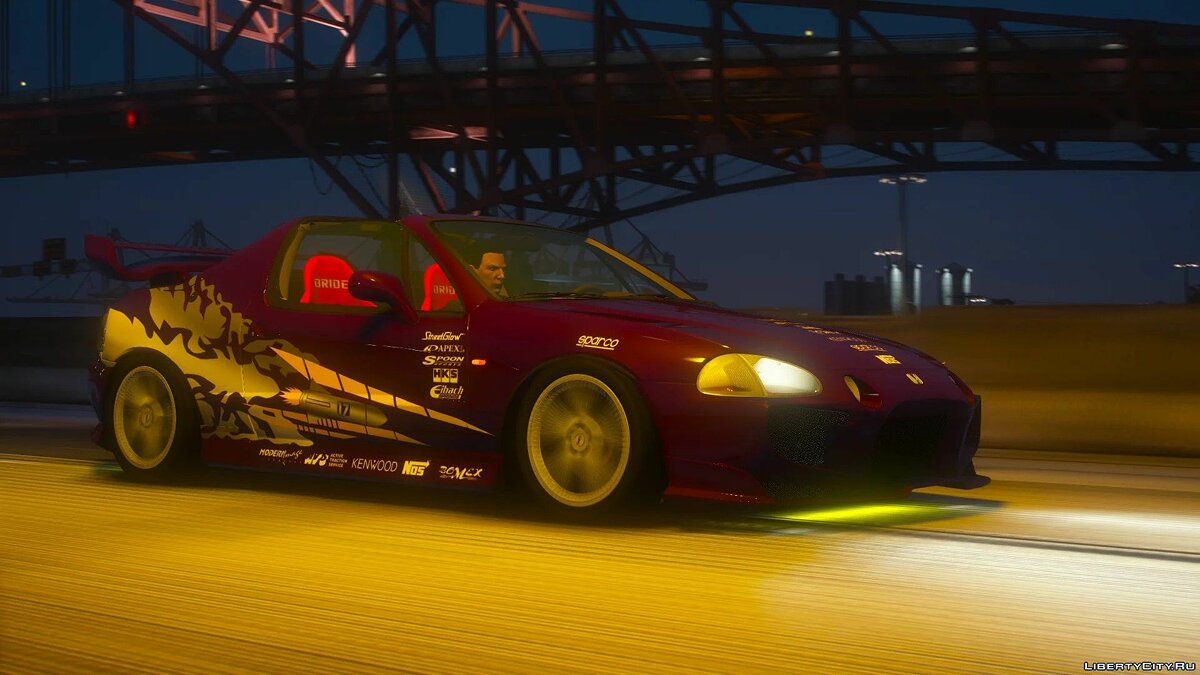 Машина Honda Honda CR-X Del Sol 1997 [Add-On | Tuning | LODs | Template] 1.0 для GTA 5