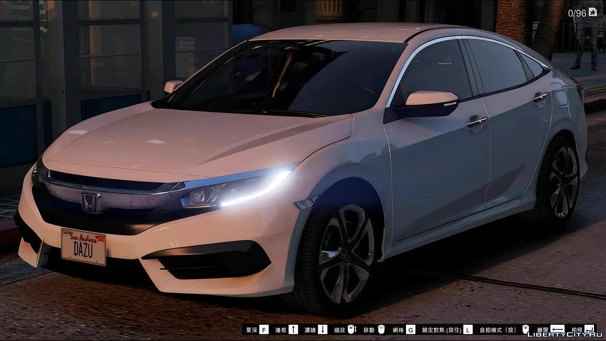 Honda Civic Sedan 2016 1.0 для GTA 5