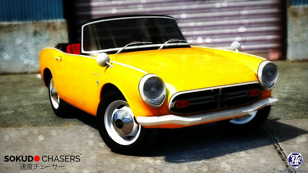 ��ашина Honda 1970 Honda S800 Cabriolet [Add-On / Replace] 2.0 для GTA 5