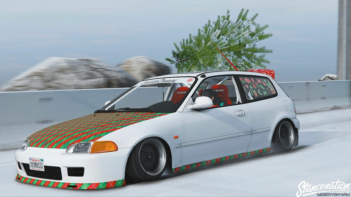 Машина Honda Honda Civic EG6 Christmas Edition 1.0 для GTA 5
