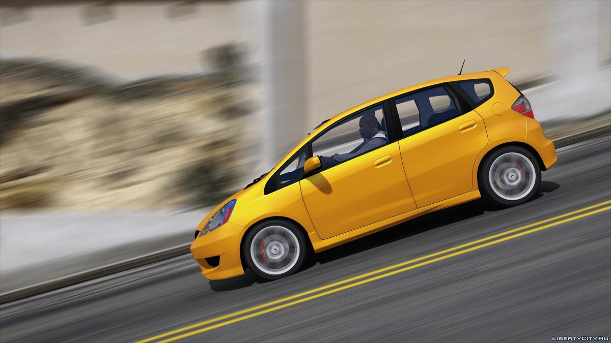 Машина Honda Honda Fit Sport 2009 [REPLACE] 1.0 для GTA 5