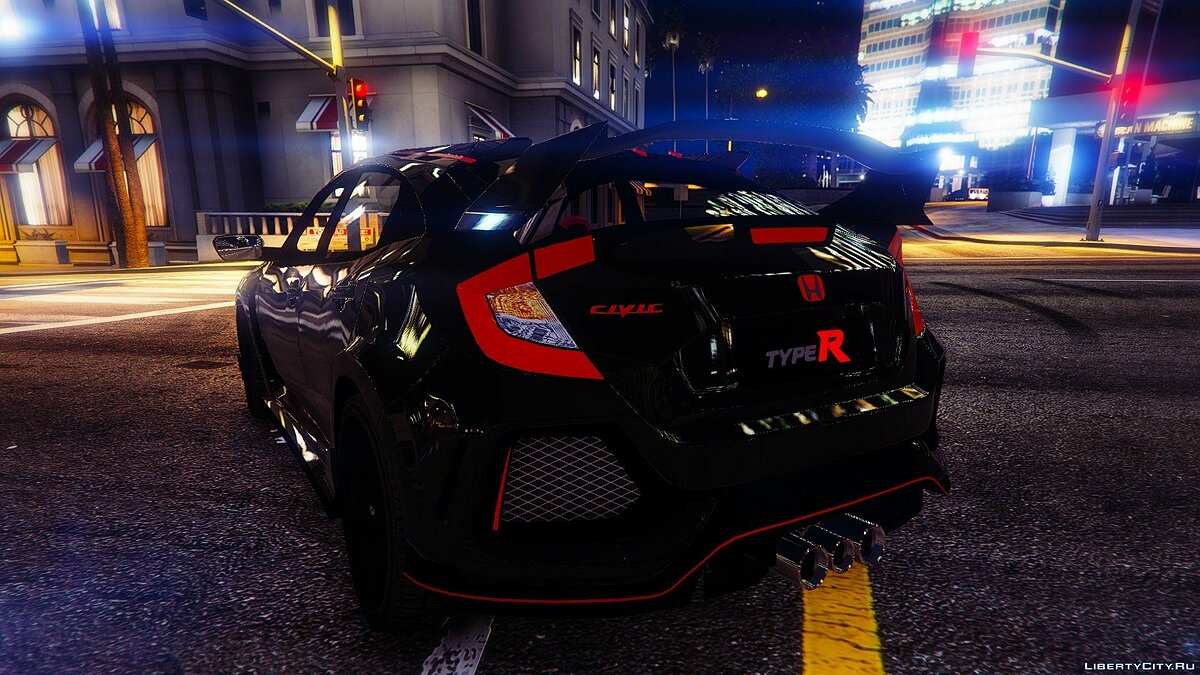 ��ашина Honda Honda Civic Type R 2017 [Add-On / Replace | Unlocked] 0.2 для GTA 5