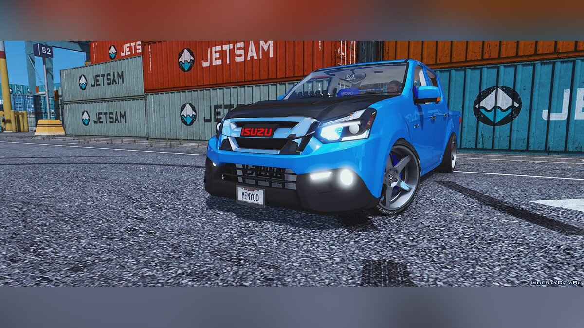Машина Isuzu Isuzu D-MAX Blue Power 1.9 2016 [Add-On] 1.1 для GTA 5