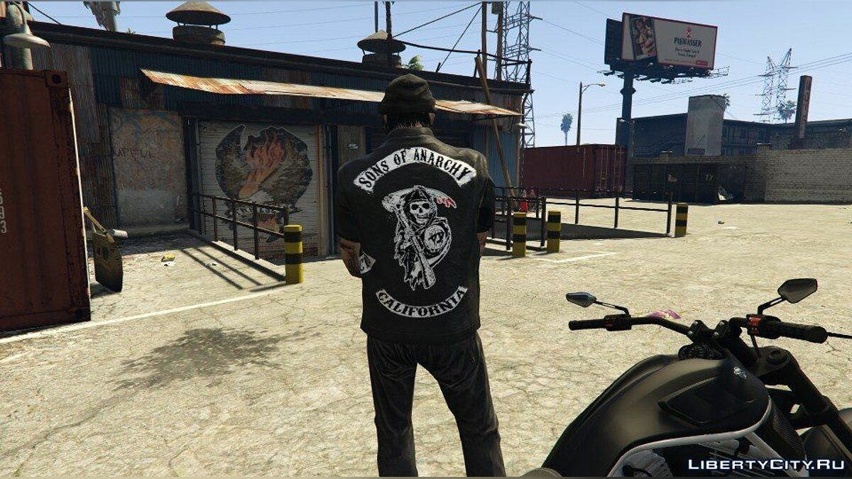 Куртка или костюм Жилет sons of anarchy для GTA 5