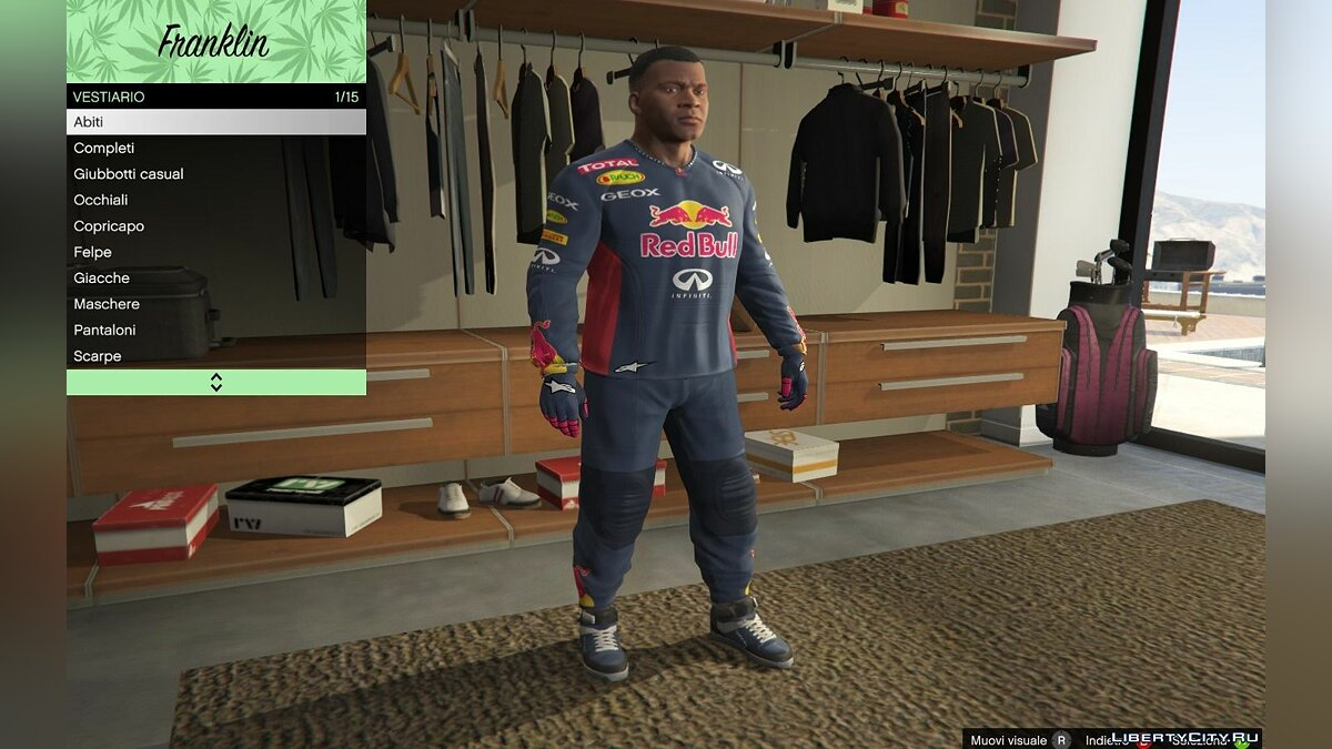 RedBull Suit for Franklin для GTA 5