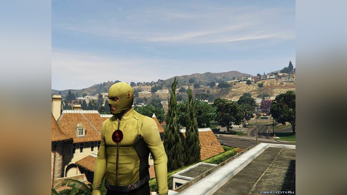 Куртка или костюм Reverse Flash Suit (Trevor) v1.0 для GTA 5