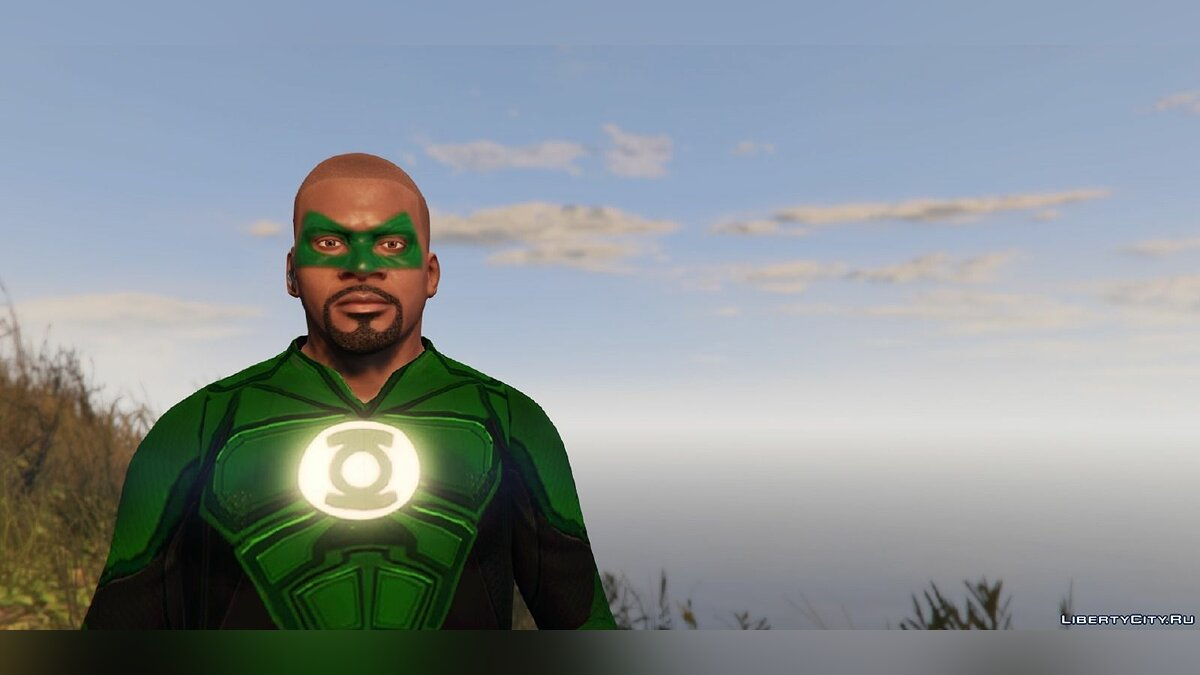 Green Lantern - Franklin для GTA 5 - скриншот #3