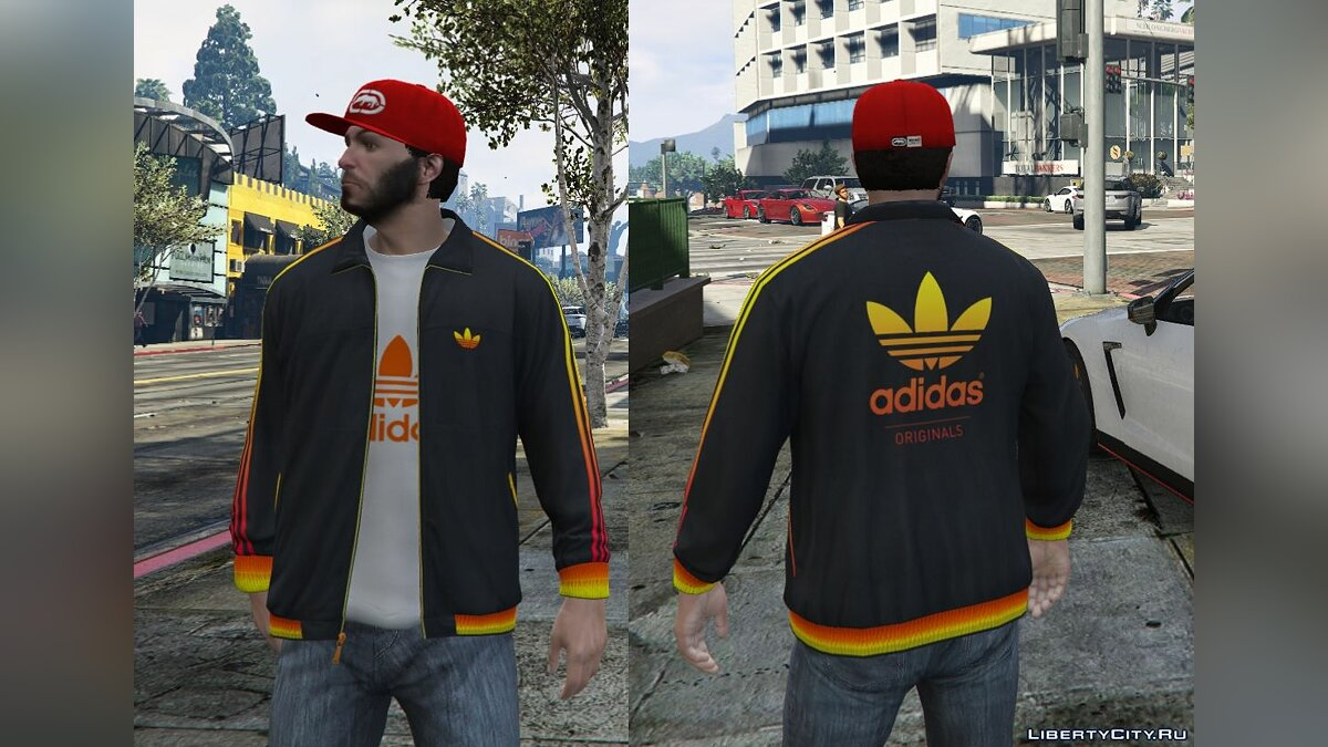 Adidas Originals Jackets Pack for Franklin для GTA 5 - скриншот #2