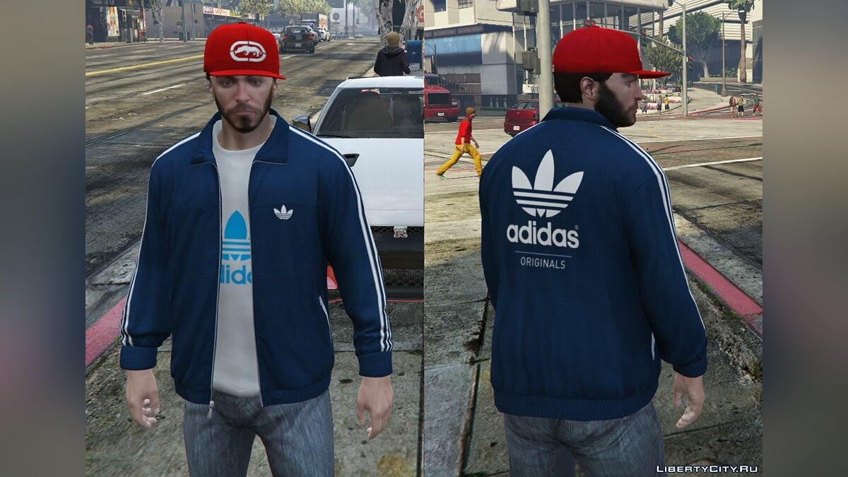 Adidas Originals Jackets Pack for Franklin для GTA 5 - скриншот #3