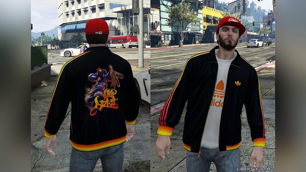 Adidas Originals Jackets Pack for Franklin для GTA 5 - скриншот #7