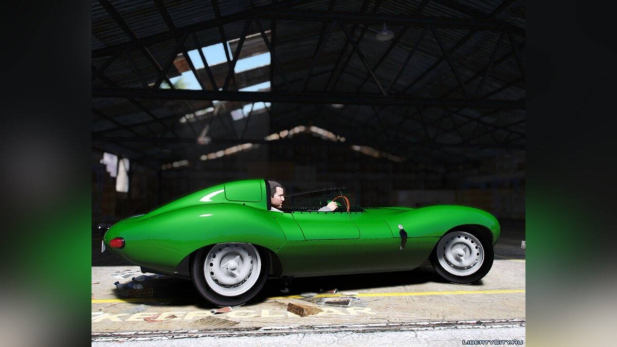 Машина Jaguar 1956 Jaguar D-Type [Add-On] 1.0 для GTA 5