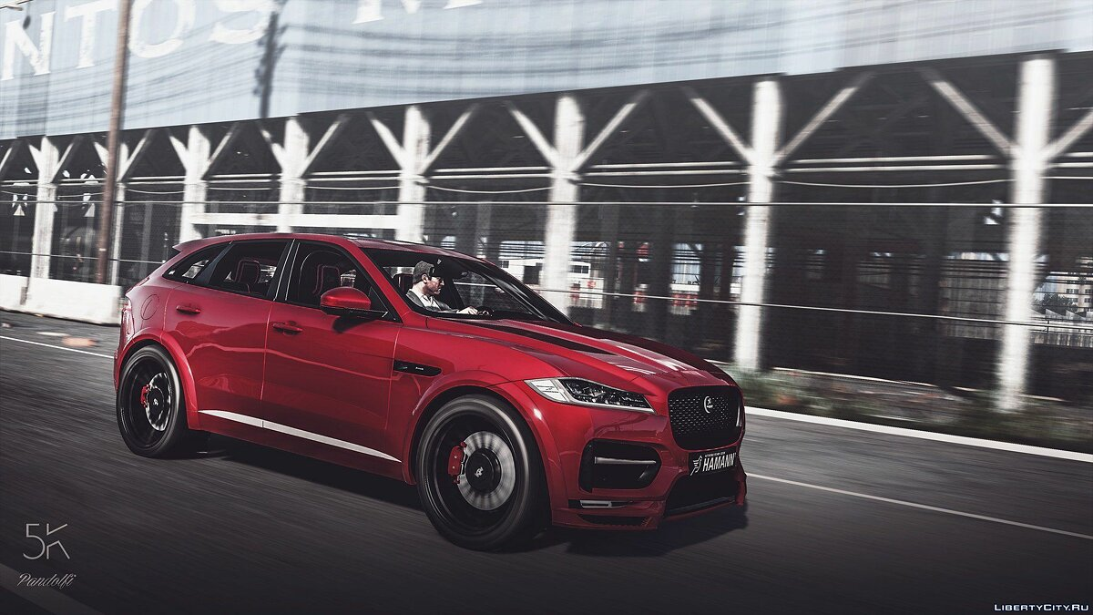 Машина Jaguar Jaguar F-pace hamann edition [Add-on] 1.1 для GTA 5