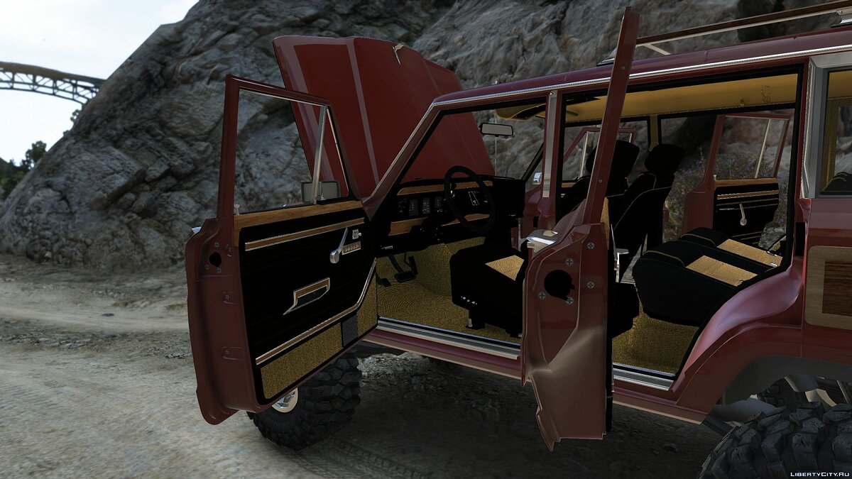 Машина Jeep 1990 Jeep Grand Wagoneer [Add-On] 1.0 для GTA 5