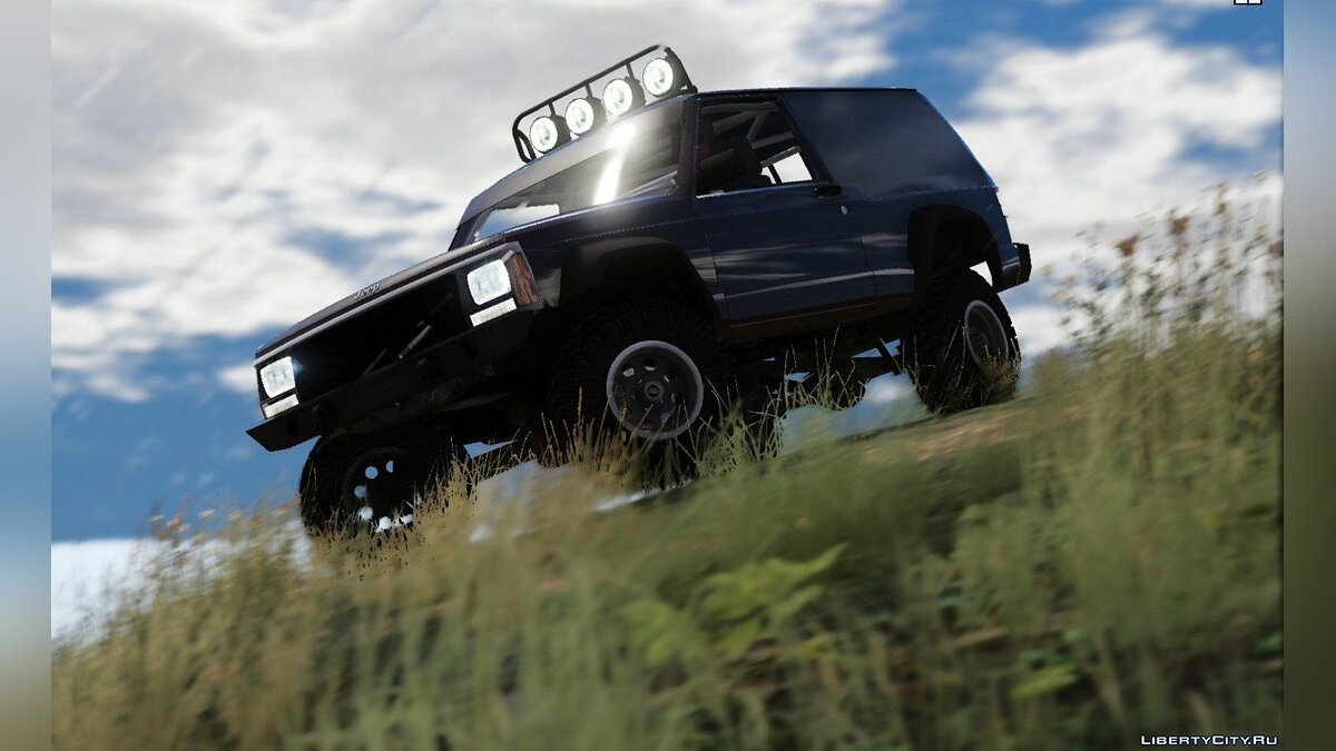 Jeep Cherokee Sport 1984 Off Road 4x4 [Add-On / Replace | Tuning | 10 Extras | Unlocked] 1.4 для GTA 5