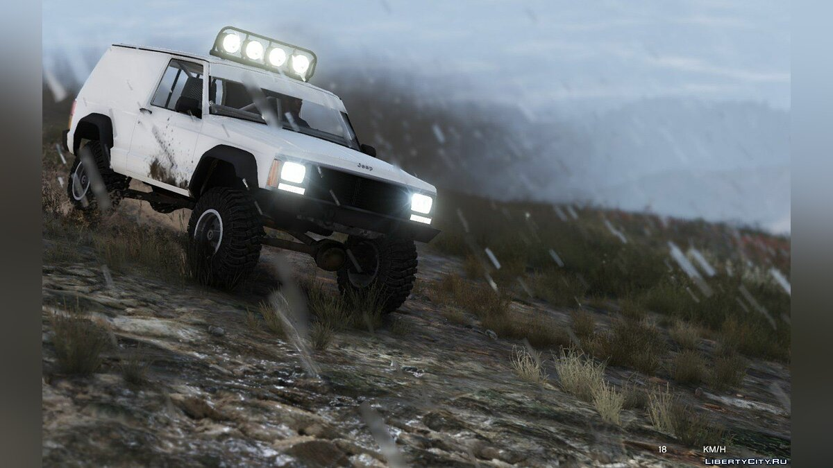 Jeep Cherokee Sport 1984 Off Road 4x4 [Add-On / Replace | Tuning | 10 Extras | Unlocked] 1.4 для GTA 5 - скриншот #4