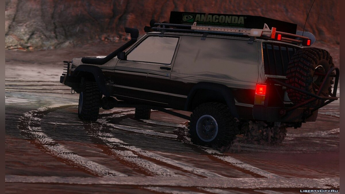 Jeep Cherokee Sport 1984 Off Road 4x4 [Add-On / Replace | Tuning | 10 Extras | Unlocked] 1.4 для GTA 5 - скриншот #5