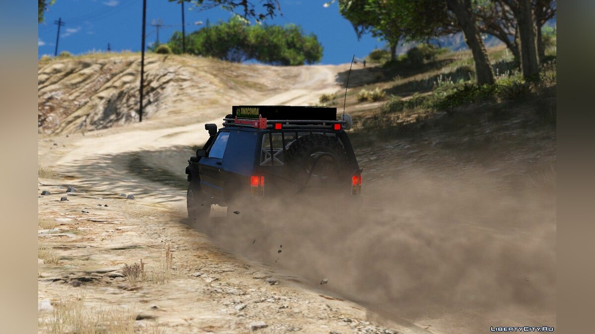 Jeep Cherokee Sport 1984 Off Road 4x4 [Add-On / Replace | Tuning | 10 Extras | Unlocked] 1.4 для GTA 5 - скриншот #7