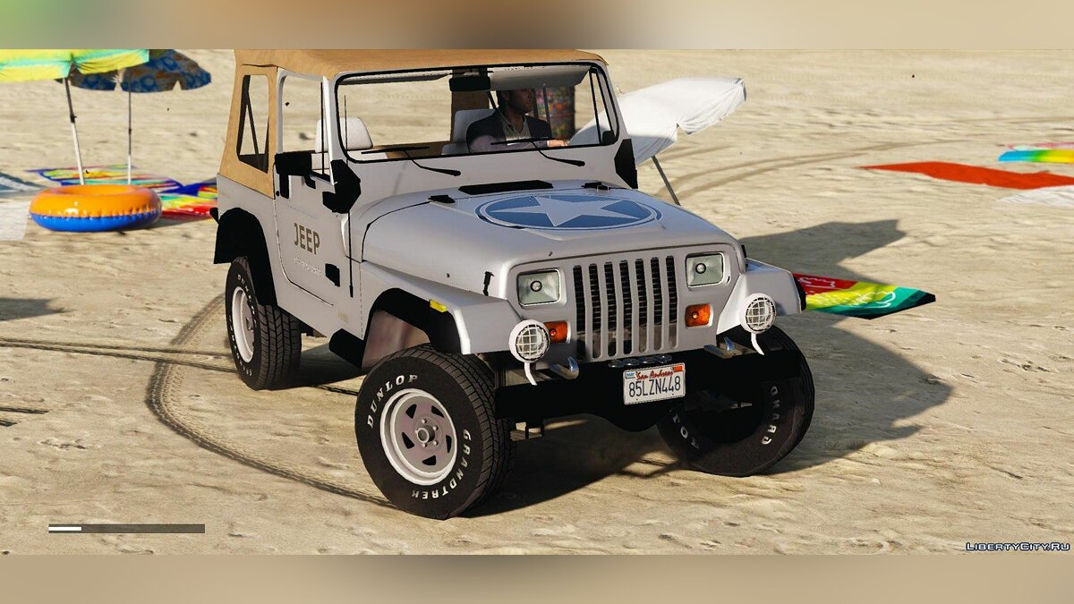 ��ашина Jeep Jeep Wrangler 1986 [Add-On | Replace | Livery | Extras | Template] 1.5 для GTA 5