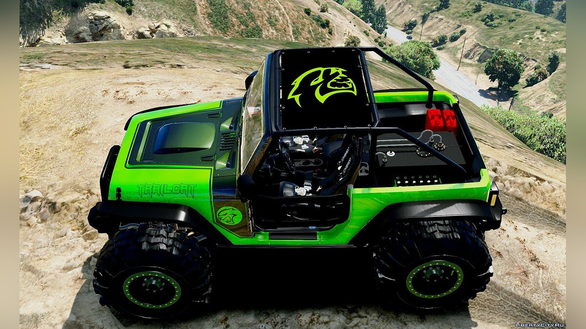 Jeep Wrangler Trailcat Concept 2016 [Add-On / Replace | Template] 1.2 для GTA 5 - скриншот #6