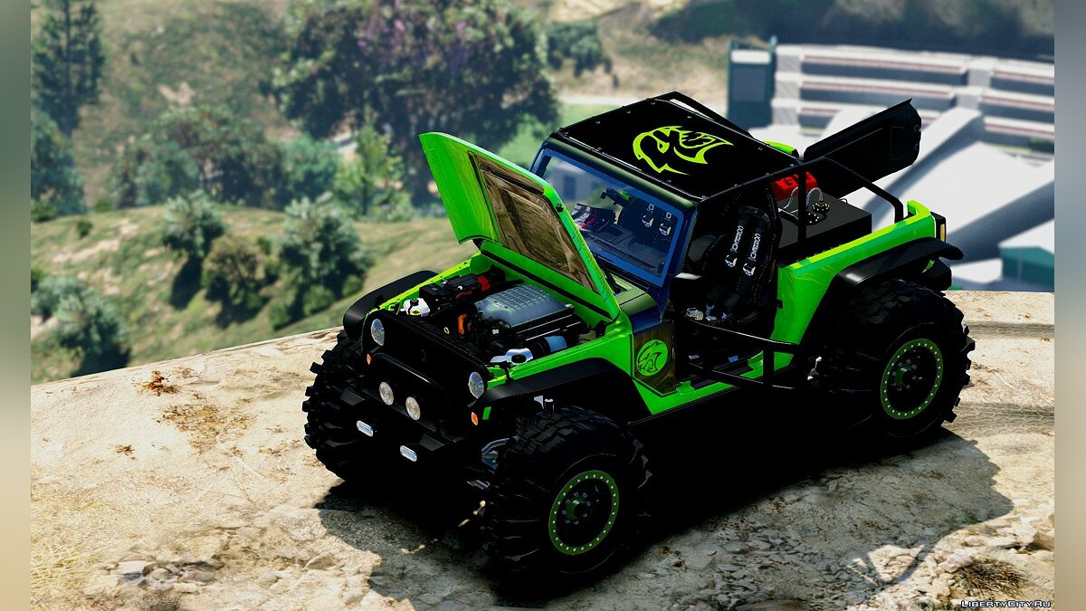 Jeep Wrangler Trailcat Concept 2016 [Add-On / Replace | Template] 1.2 для GTA 5 - скриншот #4