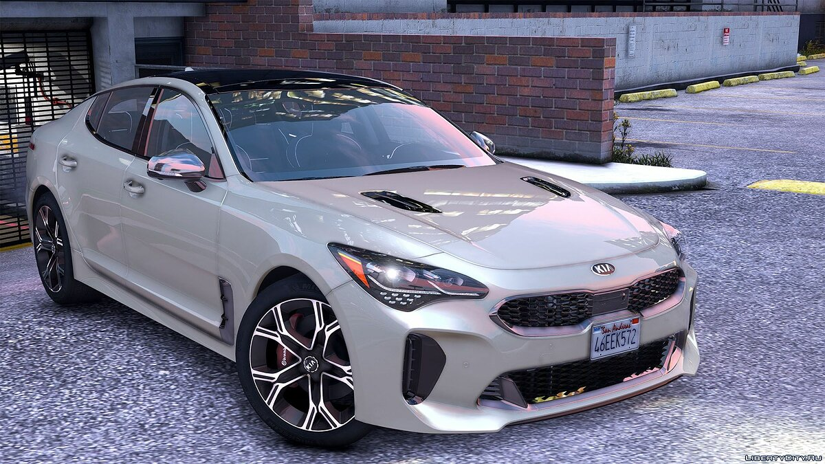 Машина Kia 2018 Kia Stinger GT [Add-On (OIV) /Replace /Tuning /Analog-Digital Dials /Animated /Template] v1.2 для GTA 5