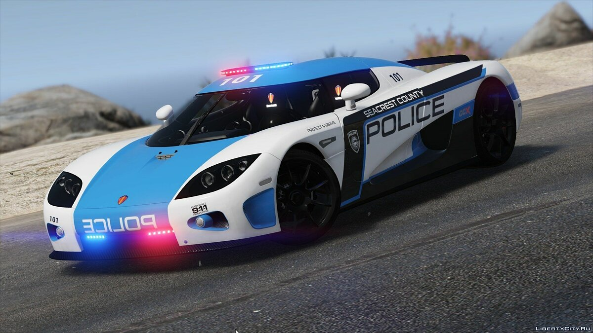 Koenigsegg CCX | Hot Pursuit Police [Add-On / Replace | Template] 1.0 для GTA 5