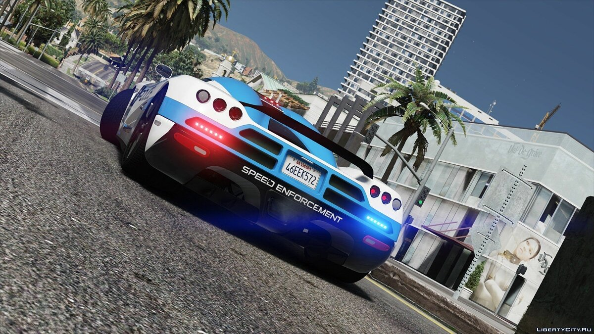 Koenigsegg CCX | Hot Pursuit Police [Add-On / Replace | Template] 1.0 для GTA 5 - скриншот #2