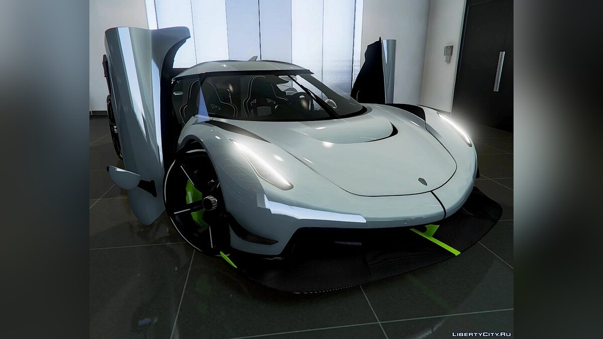 Машина Koenigsegg 2020 Koenigsegg Jesko [ Add-On | Door Script | Digital Dials | Extras ] Reconvert 1.0 для GTA 5