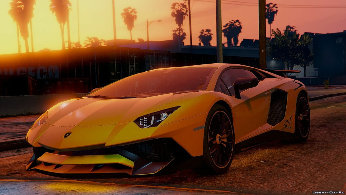 Lamborghini Aventador LP 750-4 SV 2015 [Add-On] для GTA 5
