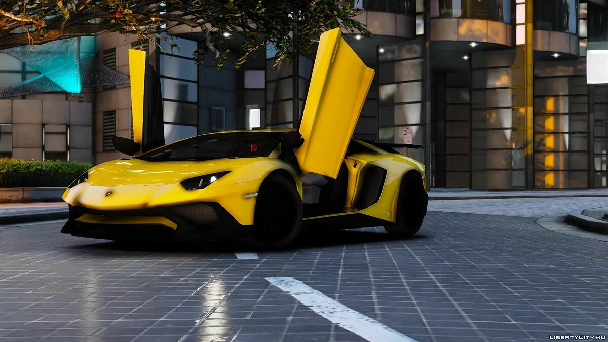 Машина Lamborghini 2015 Lamborghini Aventador SV [Add-on] 1.0 для GTA 5