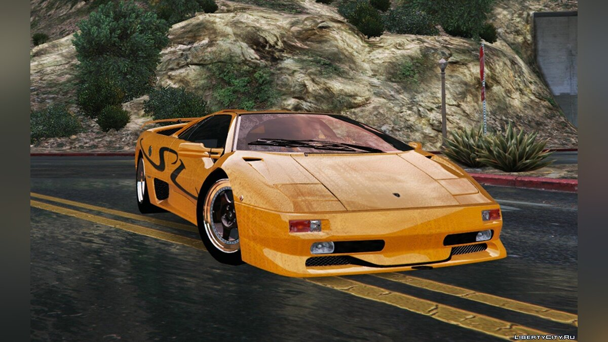 Lamborghini Diablo SV 1997 [Add-On / Replace | Template | Pop-up Lights] 1.3 для GTA 5