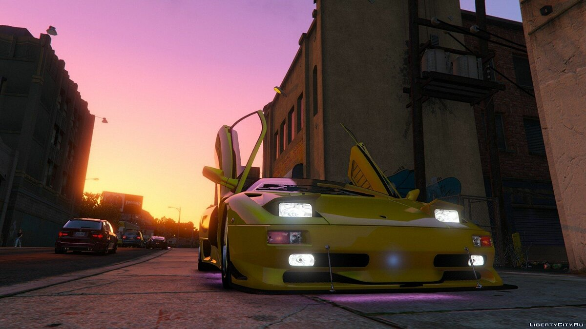 Lamborghini Diablo SV 1997 [Add-On / Replace | Template | Pop-up Lights] 1.3 для GTA 5 - скриншот #4