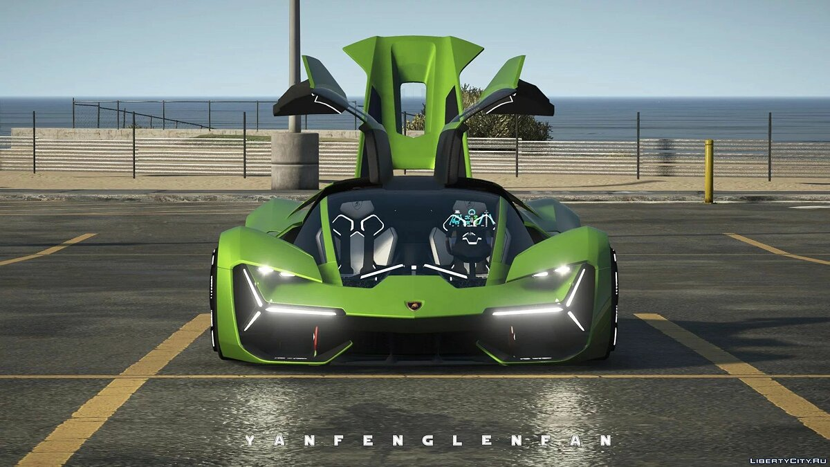 Машина Lamborghini 2018 Lamborghini Terzo Millennio Concept Car [Add-On l Manual Spoiler] 2.0 для GTA 5