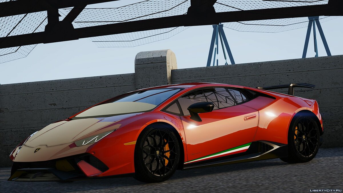 Машина Lamborghini 2018 Lamborghini Huracan Performante [Add-On / Replace] v1.2 для GTA 5
