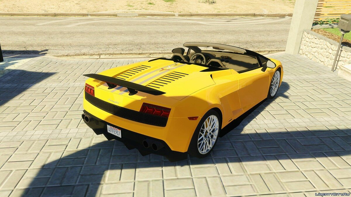 Lamborghini Gallardo LP 550-2 Spyder [HQ] [Tunable] для GTA 5 - скриншот #8