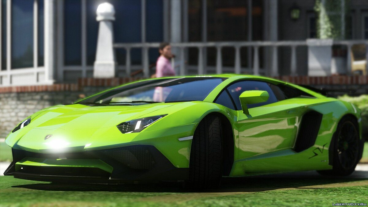 2015 Lamborghini Aventador LP700-4 [Add-On | SV-Kit | Stock | Animated Engine | Tuning] 1.5 для GTA 5 - скриншот #2
