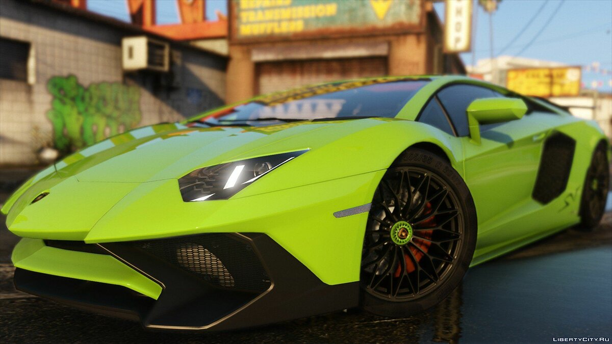 2015 Lamborghini Aventador LP700-4 [Add-On | SV-Kit | Stock | Animated Engine | Tuning] 1.5 для GTA 5 - скриншот #4