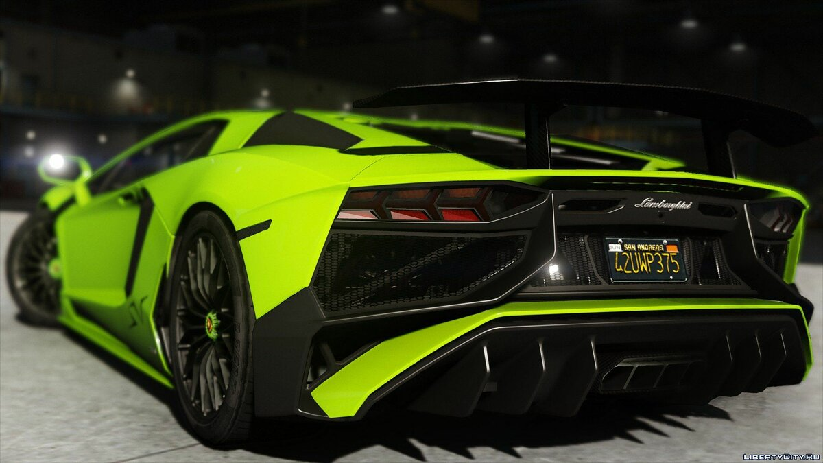 2015 Lamborghini Aventador LP700-4 [Add-On | SV-Kit | Stock | Animated Engine | Tuning] 1.5 для GTA 5 - скриншот #5