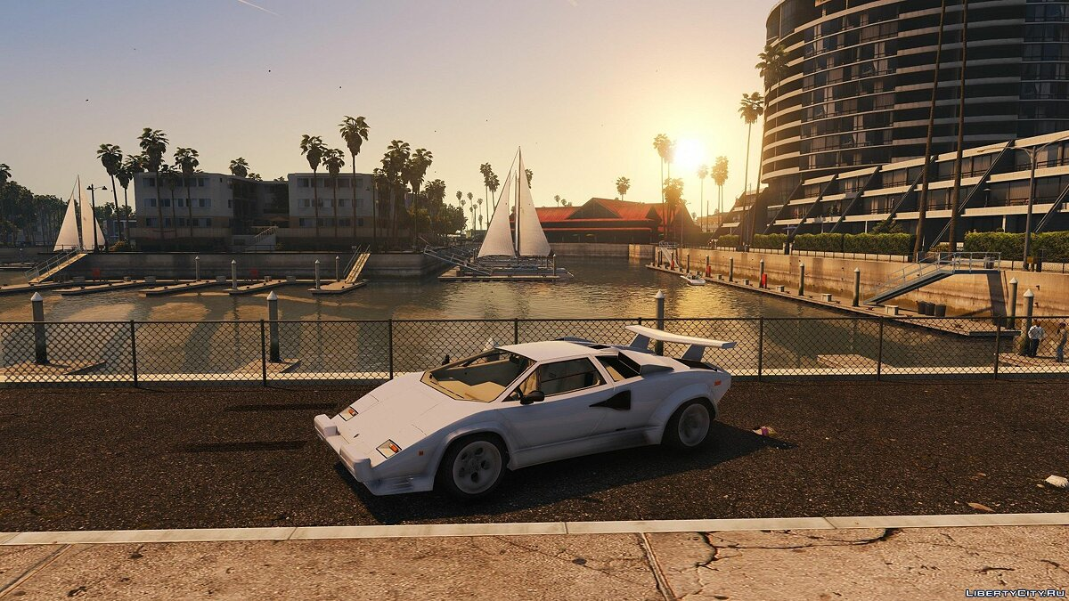 Lamborghini Countach QV 1988 US SPEC [Add-On | Tuning] 1.0 для GTA 5 - скриншот #7
