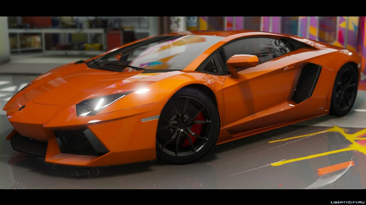 2015 Lamborghini Aventador LP700-4 [Add-On | Wipers | Stock | Animated Engine | Livery | Tuning | AutoSpoiler] 1.1 для GTA 5 - скриншот #3
