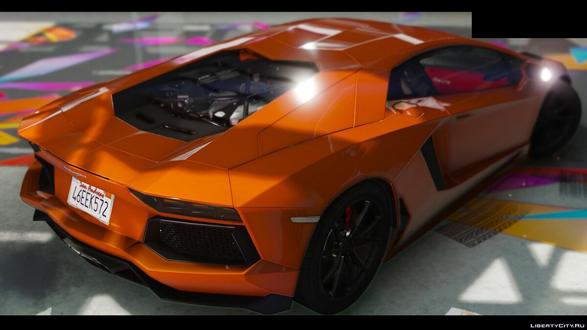 2015 Lamborghini Aventador LP700-4 [Add-On | Wipers | Stock | Animated Engine | Livery | Tuning | AutoSpoiler] 1.1 для GTA 5 - скриншот #4