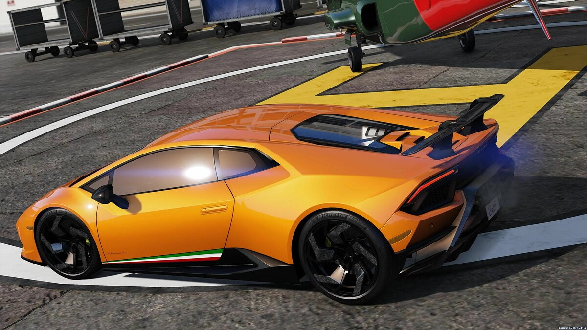 Машина Lamborghini 2018 Lamborghini Huracan Performante [Add-On / Replace] v1.3.3 для GTA 5